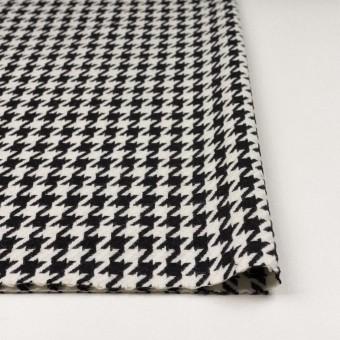 ウール&ナイロン×チェック(アイボリー&ブラック)×千鳥格子 サムネイル3