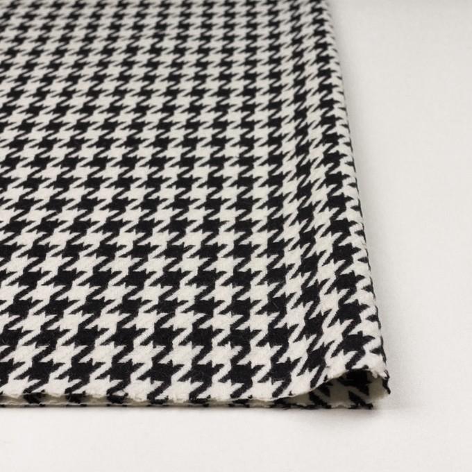ウール&ナイロン×チェック(アイボリー&ブラック)×千鳥格子 イメージ3