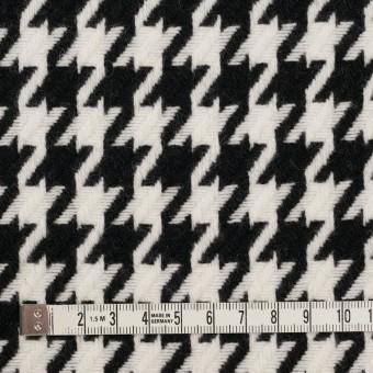 ウール&ナイロン×チェック(アイボリー&ブラック)×千鳥格子 サムネイル4