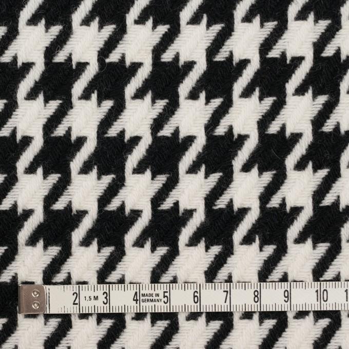 ウール&ナイロン×チェック(アイボリー&ブラック)×千鳥格子 イメージ4