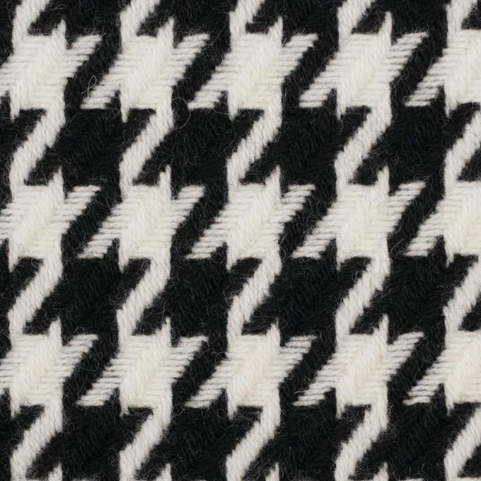 ウール&ナイロン×チェック(アイボリー&ブラック)×千鳥格子 イメージ1