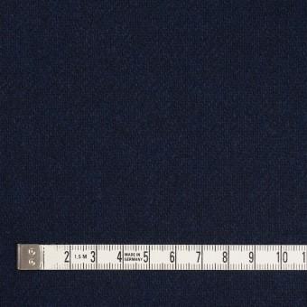 ウール&ポリエステル混×無地(ダークネイビー)×サキソニー サムネイル4