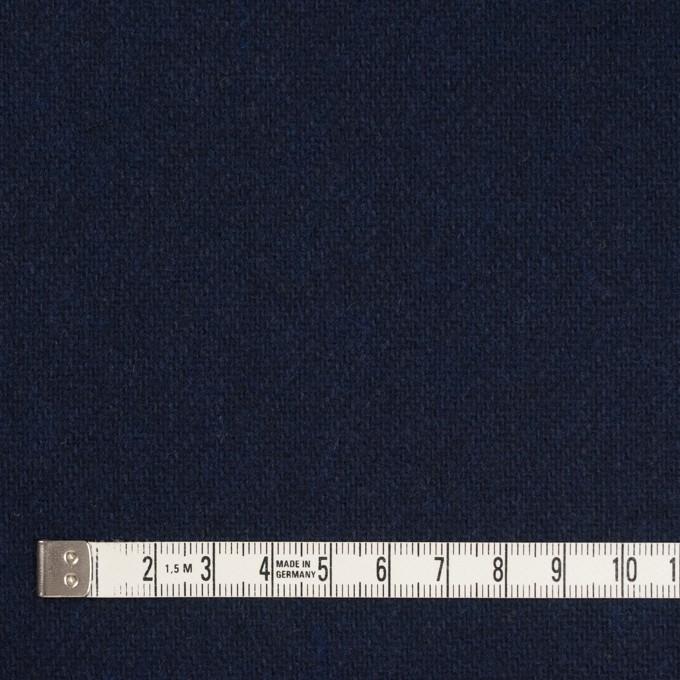 ウール&ポリエステル混×無地(ダークネイビー)×サキソニー イメージ4
