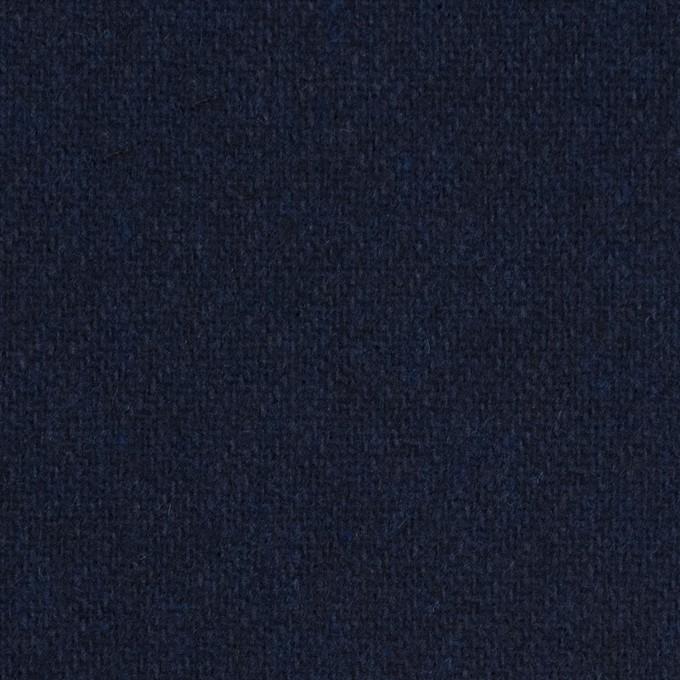 ウール&ポリエステル混×無地(ダークネイビー)×サキソニー イメージ1
