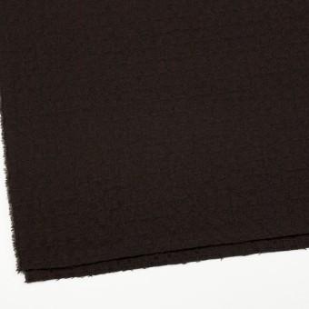 ウール&ポリエステル混×無地(ダークブラウン)×かわり織_全2色 サムネイル2