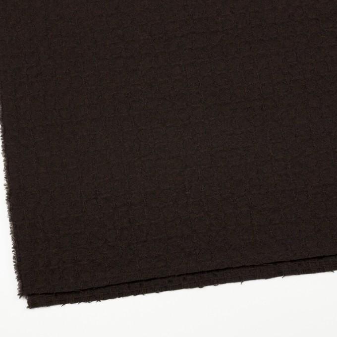 ウール&ポリエステル混×無地(ダークブラウン)×かわり織_全2色 イメージ2