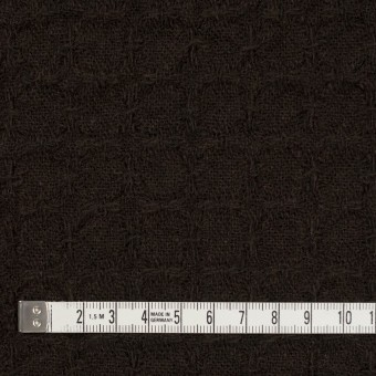 ウール&ポリエステル混×無地(ダークブラウン)×かわり織_全2色 サムネイル4