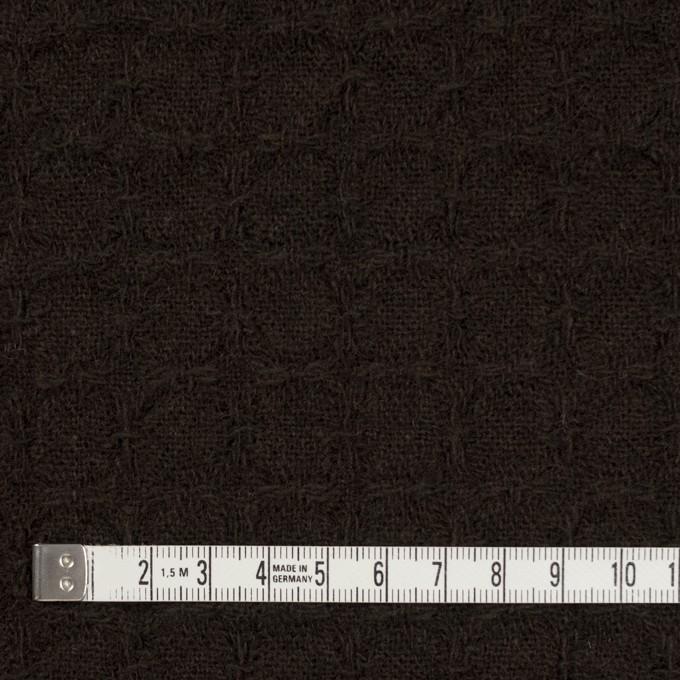 ウール&ポリエステル混×無地(ダークブラウン)×かわり織_全2色 イメージ4