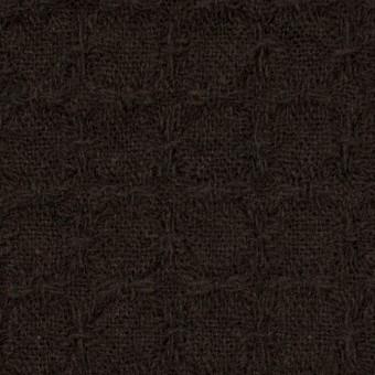 ウール&ポリエステル混×無地(ダークブラウン)×かわり織_全2色