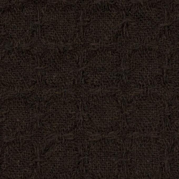 ウール&ポリエステル混×無地(ダークブラウン)×かわり織_全2色 イメージ1