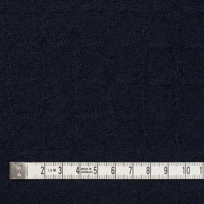 ウール&ポリエステル混×無地(ダークネイビー)×かわり織_全2色 イメージ4