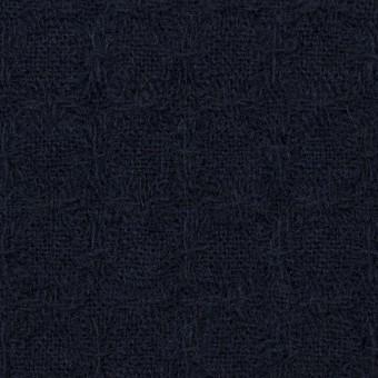 ウール&ポリエステル混×無地(ダークネイビー)×かわり織_全2色