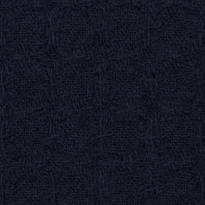 ウール&ポリエステル混×無地(ダークネイビー)×かわり織_全2色 イメージ1