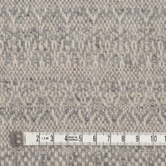ウール&ポリエステル混×幾何学模様(グレイッシュベージュ&ブルー)×ツイード イメージ4