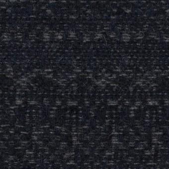 ウール&ポリエステル混×幾何学模様(グレー&ダークネイビー)×ツイード