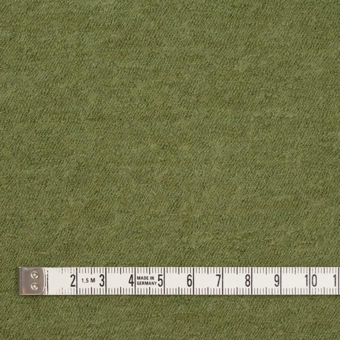 ウール×無地(グリーンティー)×圧縮メッシュニット イメージ4