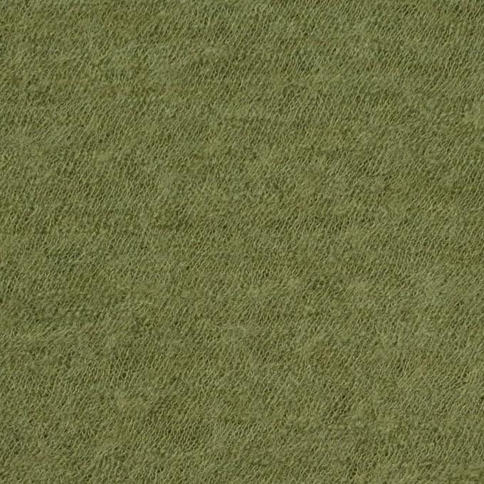 ウール×無地(グリーンティー)×圧縮メッシュニット イメージ1