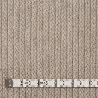 ウール&ナイロン混×無地(グレイッシュベージュ)×バルキーニット_全4色 サムネイル4