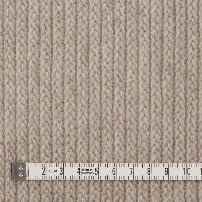 ウール&ナイロン混×無地(グレイッシュベージュ)×バルキーニット_全4色 イメージ4