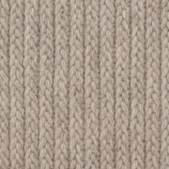 ウール&ナイロン混×無地(グレイッシュベージュ)×バルキーニット_全4色 サムネイル1
