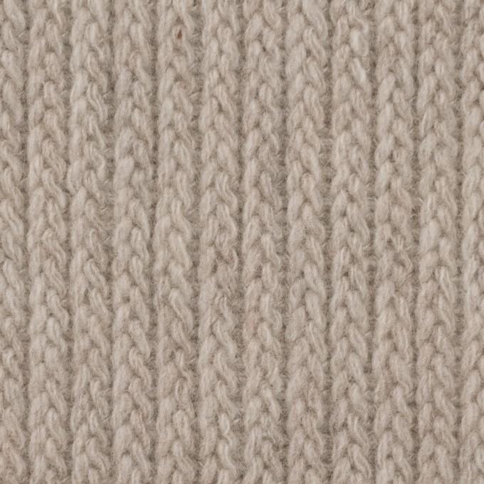 ウール&ナイロン混×無地(グレイッシュベージュ)×バルキーニット_全4色 イメージ1