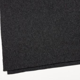 ウール&ナイロン混×無地(チャコールグレー)×バルキーニット_全4色 サムネイル2