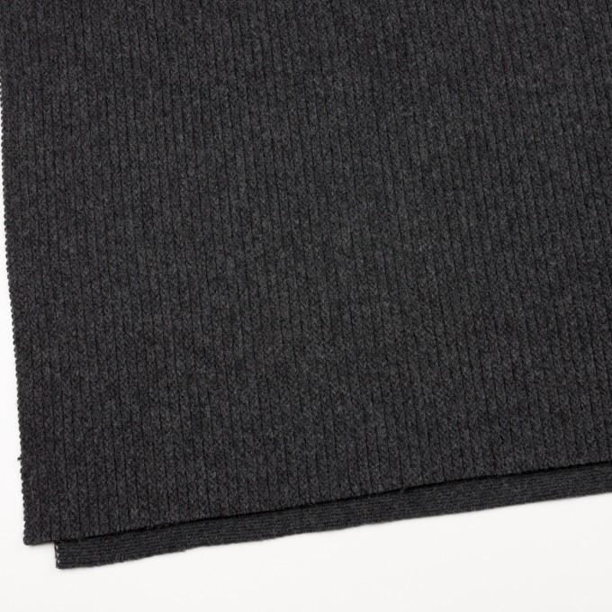 ウール&ナイロン混×無地(チャコールグレー)×バルキーニット_全4色 イメージ2