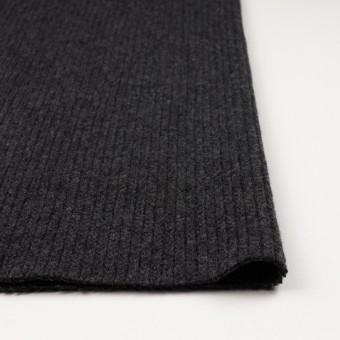 ウール&ナイロン混×無地(チャコールグレー)×バルキーニット_全4色 サムネイル3