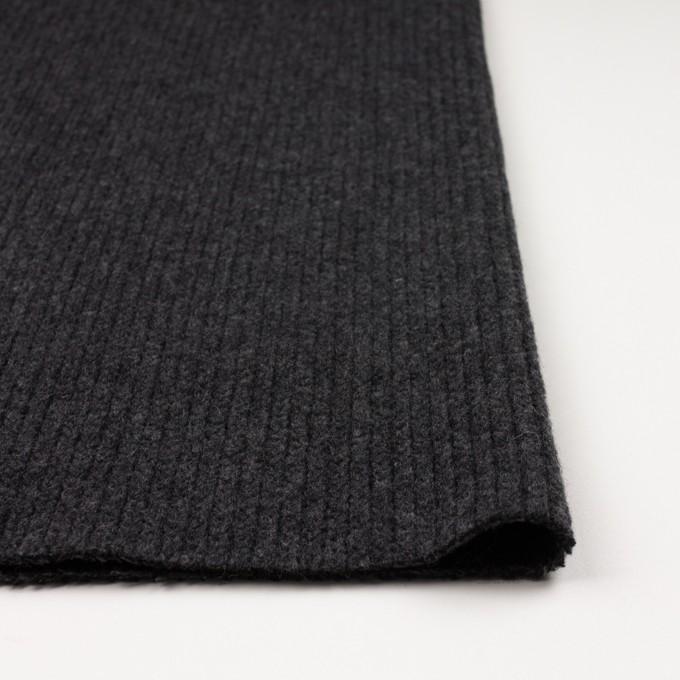 ウール&ナイロン混×無地(チャコールグレー)×バルキーニット_全4色 イメージ3