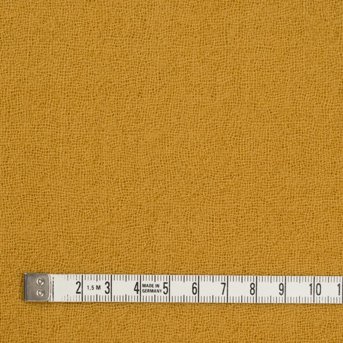 ウール×無地(マスタード)×ガーゼ_全5色 イメージ4