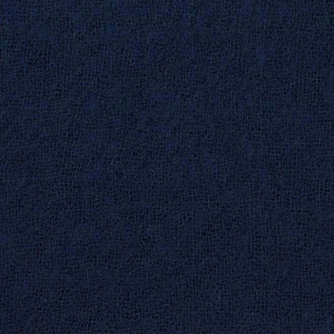 ウール×無地(ネイビー)×ガーゼ_全5色 イメージ1