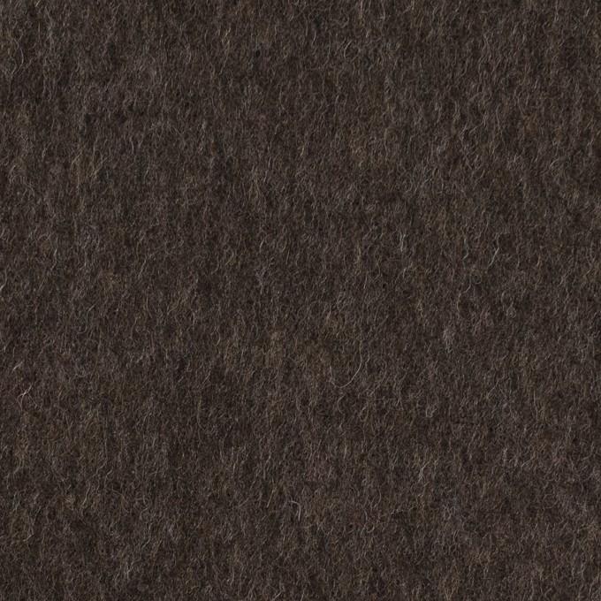 ウール×無地(ダークブラウン)×フラノ(フランネル) イメージ1