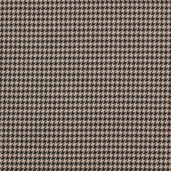 コットン&ポリウレタン×チェック(ベージュ&ブラウン)×千鳥格子ストレッチ