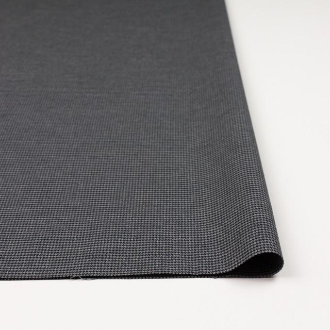 コットン&ポリノジック混×チェック(グレー&チャコール)×千鳥格子ストレッチ イメージ3