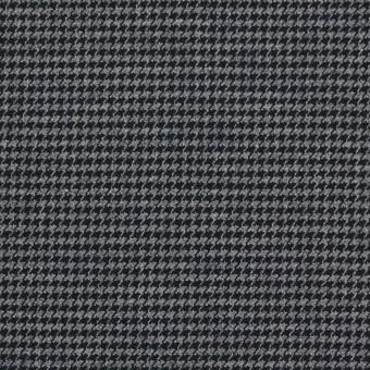 コットン&ポリノジック混×チェック(グレー&チャコール)×千鳥格子ストレッチ