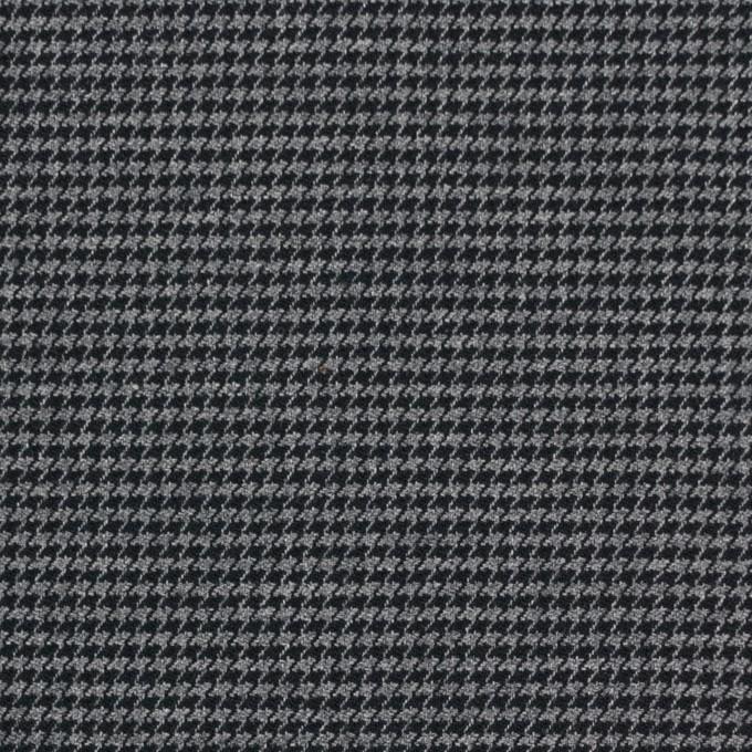 コットン&ポリノジック混×チェック(グレー&チャコール)×千鳥格子ストレッチ イメージ1