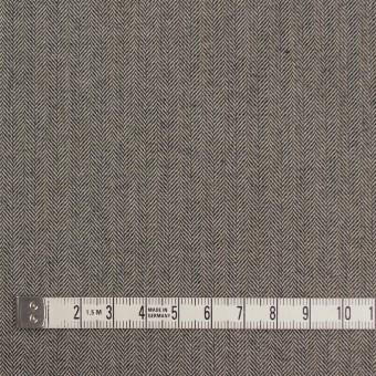 コットン&ポリウレタン×無地(キナリ&チャコール)×ヘリンボーンストレッチ サムネイル4