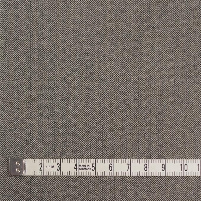 コットン&ポリウレタン×無地(キナリ&チャコール)×ヘリンボーンストレッチ イメージ4