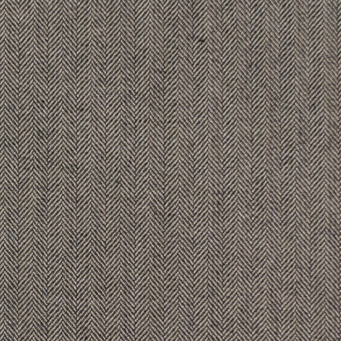 コットン&ポリウレタン×無地(キナリ&チャコール)×ヘリンボーンストレッチ イメージ1