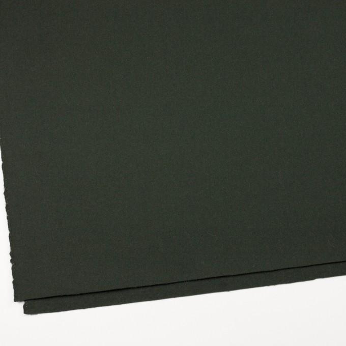 ウール&ナイロン×無地(モスグリーン)×ソフトカルゼ イメージ2