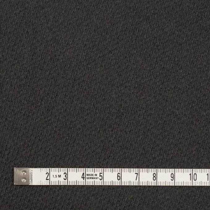 ウール&ナイロン×無地(モスグレー)×かわり織 イメージ4