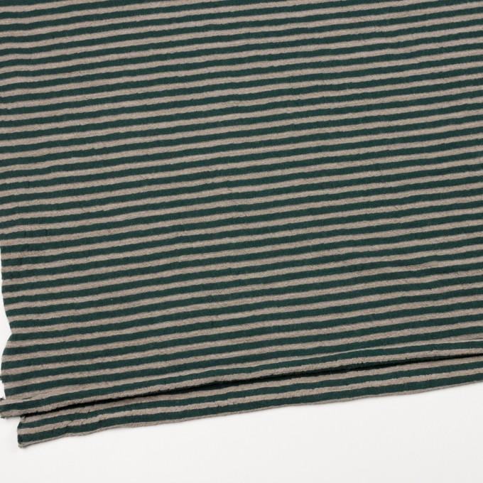 ウール&コットン×ボーダー(モスグリーン&サンドベージュ)×天竺ニット_全5色 イメージ2