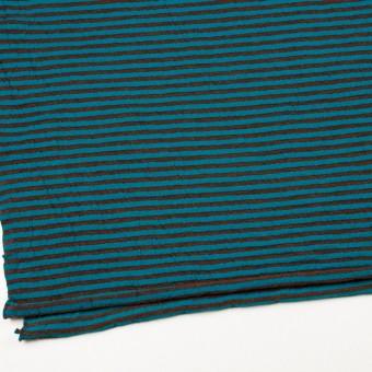 ウール&コットン×ボーダー(マロン&エメラルドブルー)×天竺ニット_全5色 サムネイル2