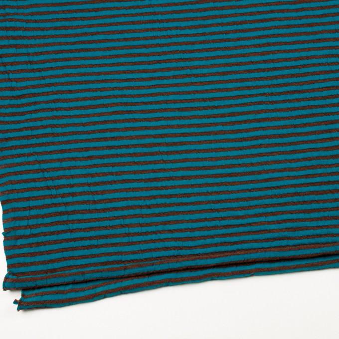 ウール&コットン×ボーダー(マロン&エメラルドブルー)×天竺ニット_全5色 イメージ2
