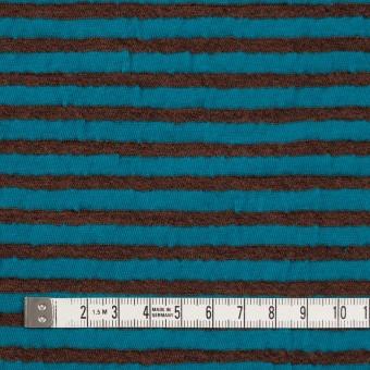 ウール&コットン×ボーダー(マロン&エメラルドブルー)×天竺ニット_全5色 サムネイル4