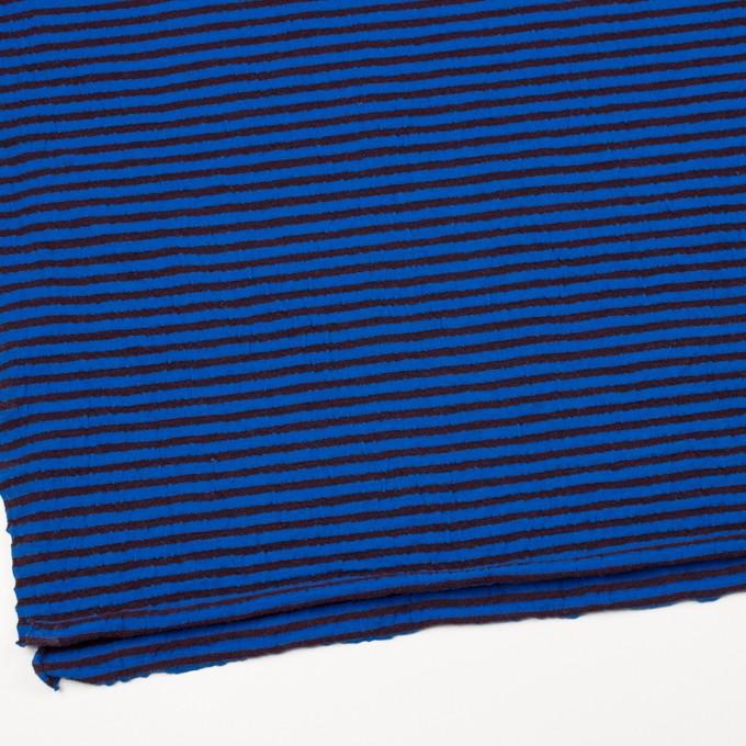 ウール&コットン×ボーダー(ダークブラウン&マリンブルー)×天竺ニット_全5色 イメージ2