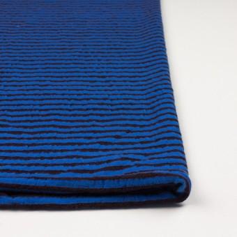 ウール&コットン×ボーダー(ダークブラウン&マリンブルー)×天竺ニット_全5色 サムネイル3