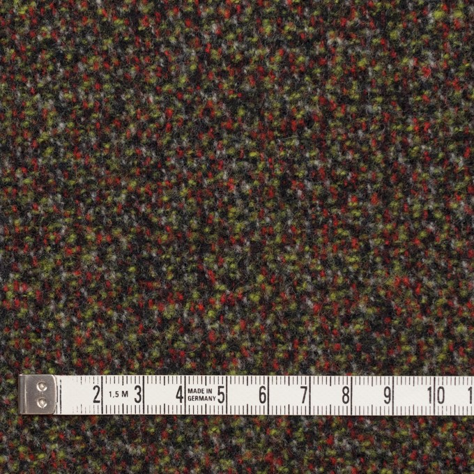 ウール&アクリル混×ミックス(レッド、グリーン&ブラック)×ファンシーツイード イメージ4