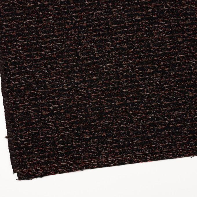 ポリエステル&ウール混×ミックス(チェリー、モカ&ブラック)×ファンシーツイード イメージ2