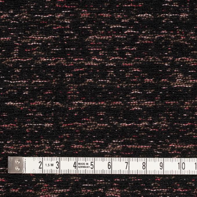 ポリエステル&ウール混×ミックス(チェリー、モカ&ブラック)×ファンシーツイード イメージ4